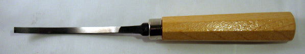 Wood Carving Tool - #1 Chisel LONG BENT