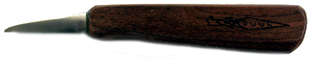 "OCCT Flat Grind 1-3/4"" Walnut Handle Carver"