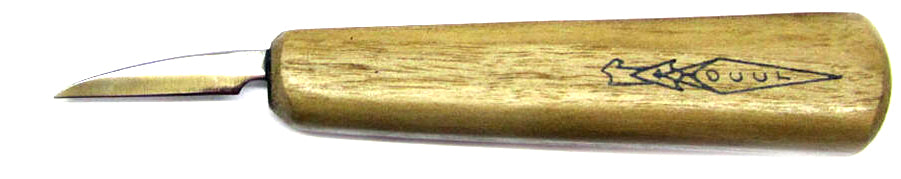 "OCCT Flat Grind 1-3/8"" Walnut Handle Carver"
