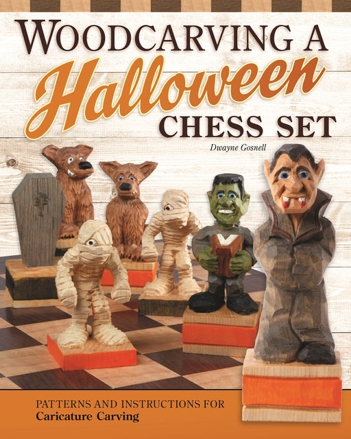 Woodcarving a Halloween Chess Set - Gosnell