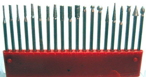 "Diamond Bur Set - 20 piece   3/32"" Shank"