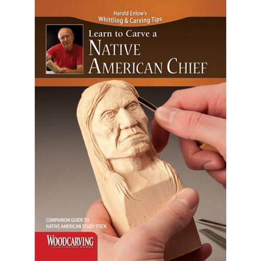 Learn to Carve Faces & Expressions NATIVE AMERICAN CHIEF - Enlow