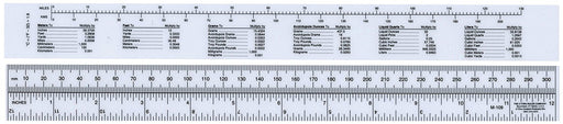 Ruler with Metric to Inch Conversion