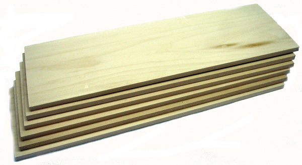 "Basswood 1/4"" x 4"" Planks- 6 Pack"