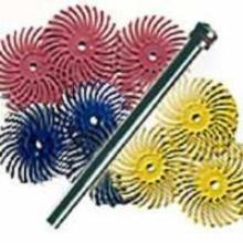 "Scotch Brite Bristle Disc 3/4"" 10 pc Kit."
