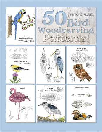 50 Bird Woodcarving Patterns - Russell