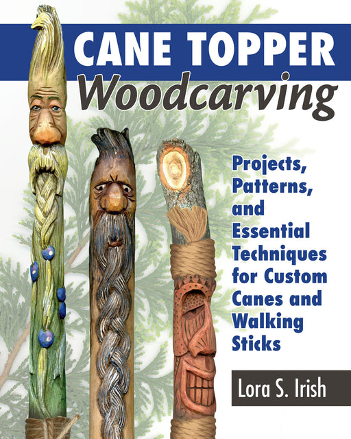 Cane Topper Woodcarving - Irish