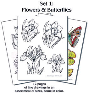 Pyro Paper Packet #1 FLOWERS & BUTTERFLIES
