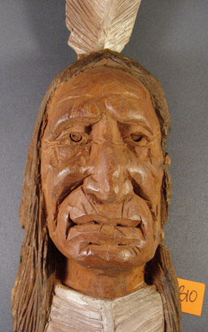 Original Woodcarving- Native American B10- Skylar Johnson