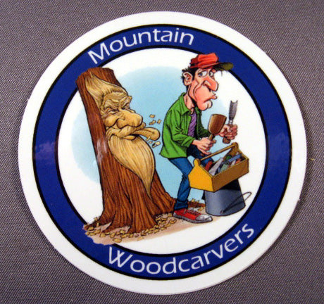 Woodspirit Carver Sticker