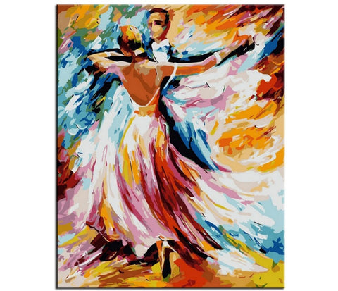 Ballroom Dancing - Number Painting
