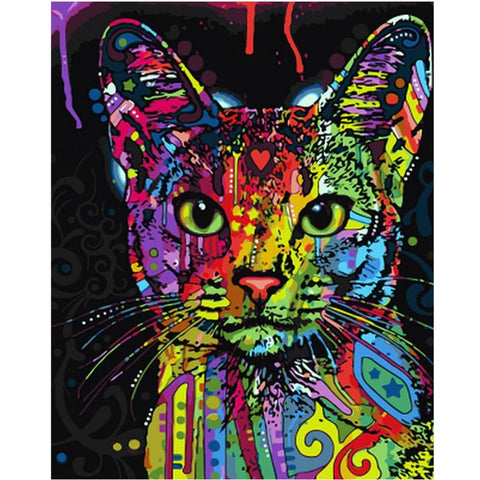 Color Splash Cat Van-Go Schilder-op-Nummer Kit