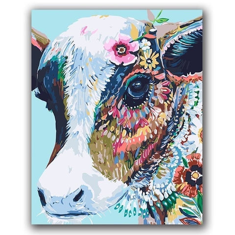 Colorful Cow - Number Painting