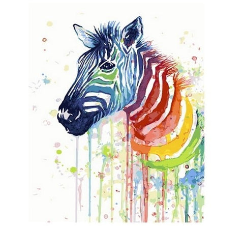 Colorful Zebra - Number Painting