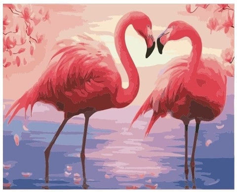 Flamingo Lovers - Number Painting