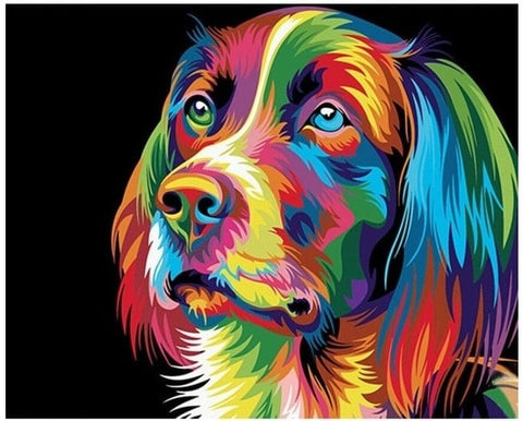 Rainbow Dog - Number Painting