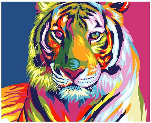 Rainbow Tiger - Number Painting