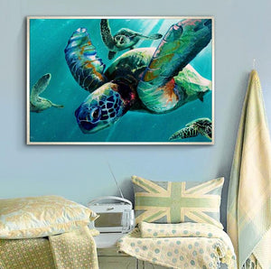 Aquarel Zeeschildpad | Canvas Art - Science Factory