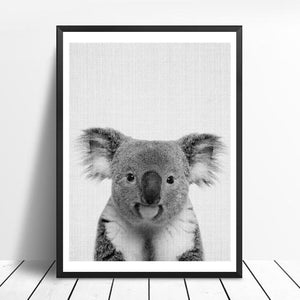 Dieren Zwart-Wit Foto | Canvas Art - Science Factory