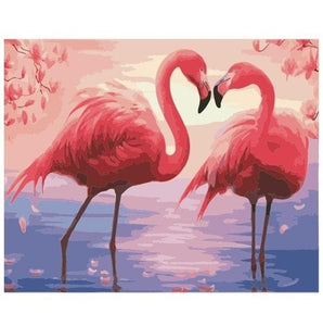 Flamingo Lovers - Number Painting - Science Factory