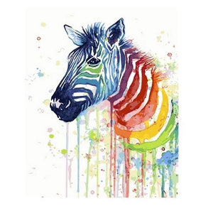 Colorful Zebra - Number Painting - Science Factory