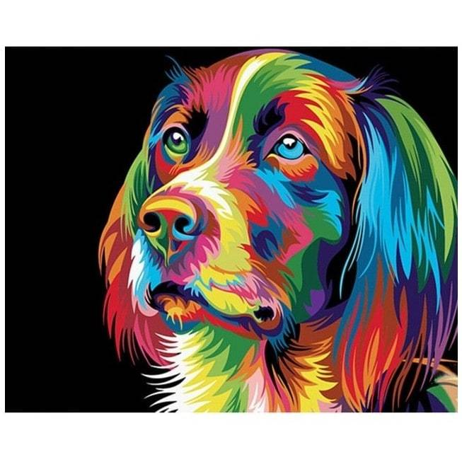 Rainbow Dog - Number Painting - Science Factory