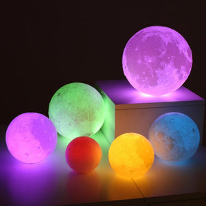 Maan (Color) Nachtlamp | Verlichting - Science Factory