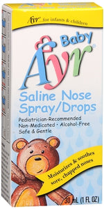 Ayr Baby Saline Nose Spray/Drops 30 mL