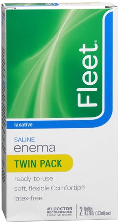 Fleet Saline Enema Twin Pack 9 oz (1 Pack)