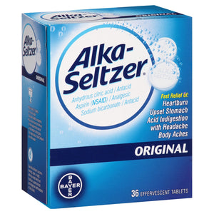 Alka Seltzer Heartburn Relief and Antacid Reducer Original Tablets - 36ct