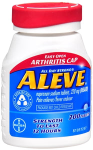Aleve Tablets Easy Open Arthritis Cap 200 Tablets (1 Pack)