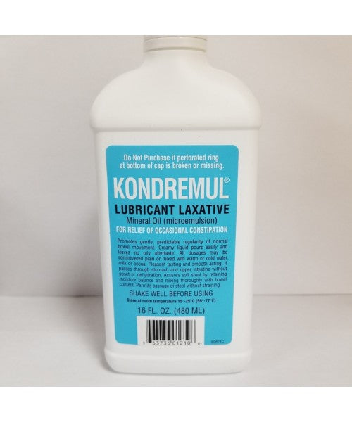 KONDREMUL LUBRICANT LAXATIVE MINERAL OIL, 16OZ
