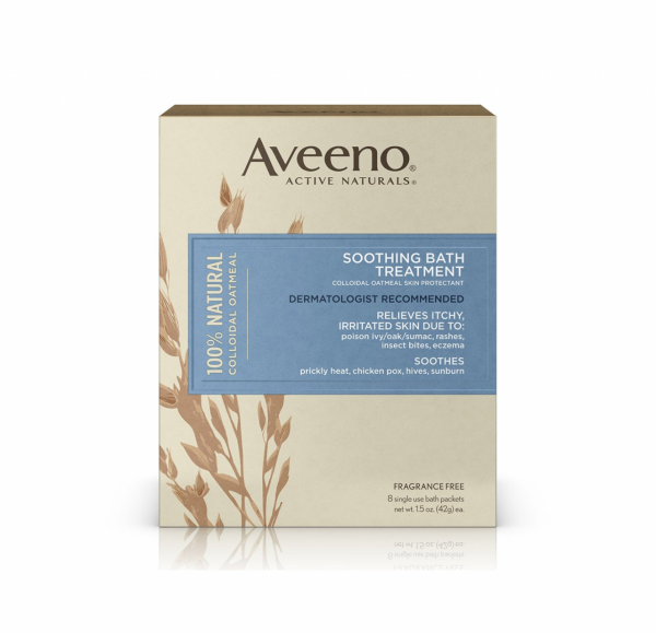 AVEENO Active Naturals Soothing Bath Treatment Packets 8 Each (1 Pack)