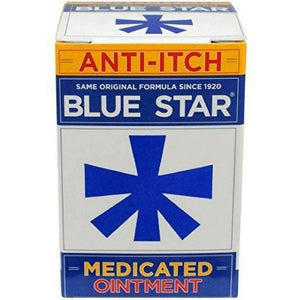 Blue Star Anti-Itch Medicated Ointment 2 oz (1 Pack)