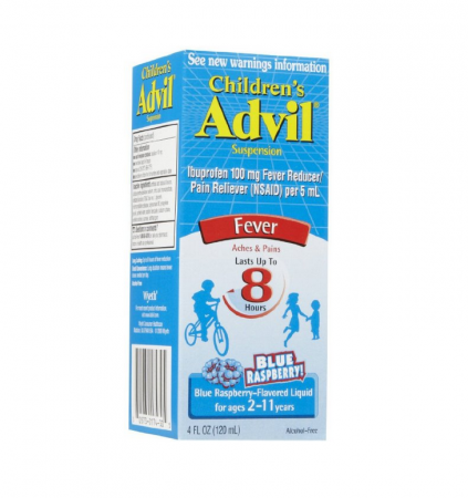 Advil Children's Suspension, Blue Raspberry Flavored 4 Fl Oz