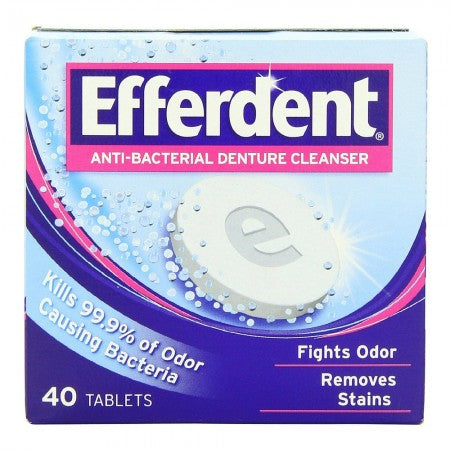 Efferdent Denture Cleanser Tablets Anti-Bacterial (44 Tablets)