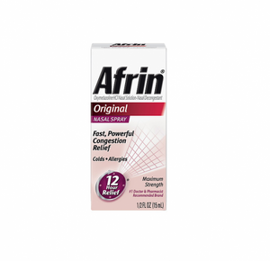 Afrin Nasal Spray, Original 15 mL