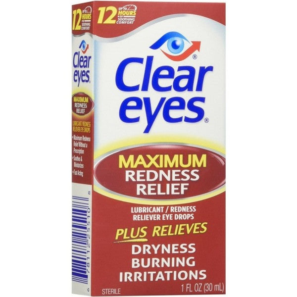 Clear Eyes Maximum Redness Relief Eye Drops (1 Pack)