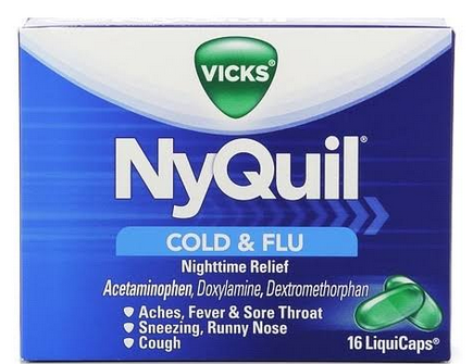 Vicks Nyquil Cold & Flu Relief LiquiCaps 16 ea