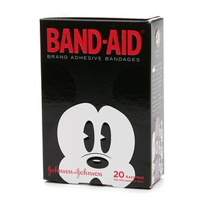 BAND-AID Bandages Mickey Mouse Assorted Sizes 20 Each (1 Pack)