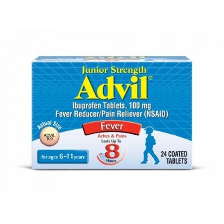 Advil Chewable Tablets Junior Strength 100 mg, Grape 24 ea (1 Pack)