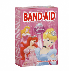 BAND-AID Children's Adhesive Bandages, Disney Princess, Assorted Sizes 20 ea (1 Pack)