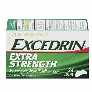 Excedrin Pain Relief Caplets, Extra Strength 24 ea (1 Pack)
