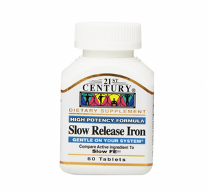 21st Century Slow Release Iron Tablets 60 ea