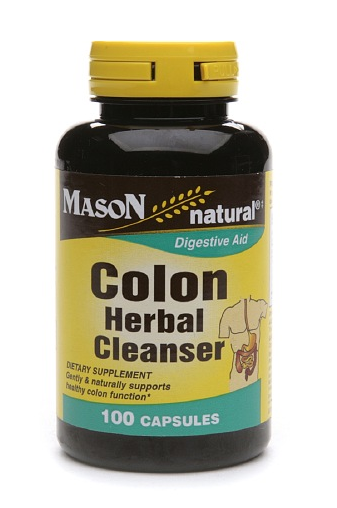 Mason Colon Herbal Cleanser Caps 500mg, 100 Capsules