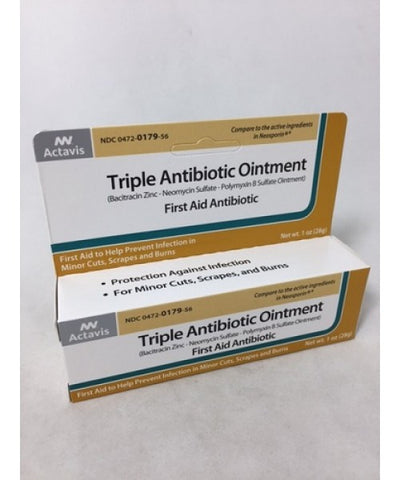 ACTAVIS TRIPLE ANTIBIOTIC OINTMENT, 1OZ