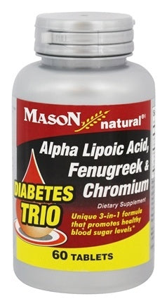 Mason Vitamins Mason Diabetes Trio Alpha Lipoic Acid, Fenugreek And Chromium Tablets - 60 Ea
