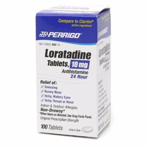 Perrigo 24 Hour Allergy Relief, Loratadine 100 ea