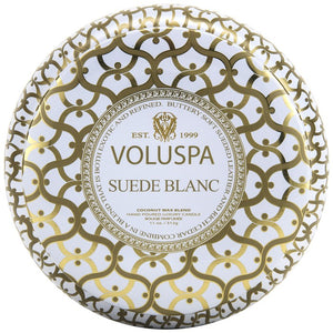 VOLUSPA - Suede Blanc 2 Wick Tin Candle