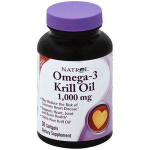 Natrol Odorless Omega-3 Krill Oil Softgels 30 ea
